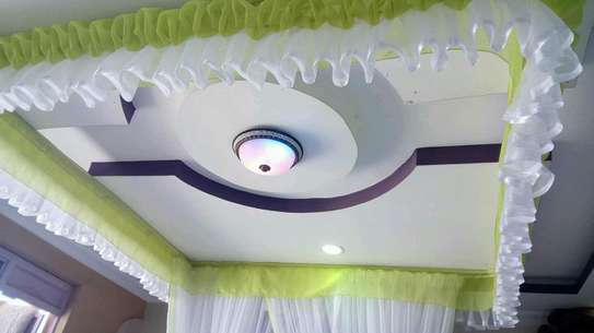 Mosquito Nets Sliding Like Curtains Fixed On The Ceiling image 9