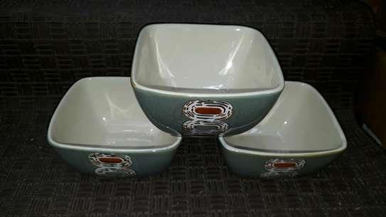 6pc ceramic dinner set/6pc ceramic bowls/ dinner plates image 3