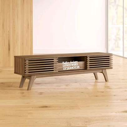 Wooden finish tv stands image 1