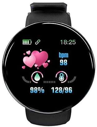 Fitness Tracker  with Heart Rate Blood Pressure Oxygen  Calorie  Waterproof  BLACK image 2