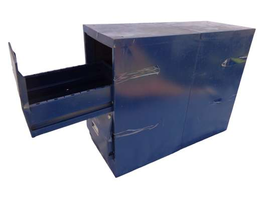 Navy-blue Office dimension file cabinet