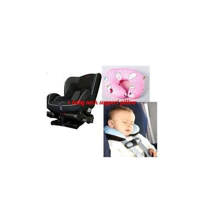 Baby/Infant/Top 2 Infant Polka Dot Car Seat( 0- 7 years) + a free assorted colors baby neck pillow image 1