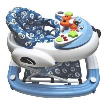 King'S Collection 2 in 1 Baby Walker/Rocker-light blue. image 1