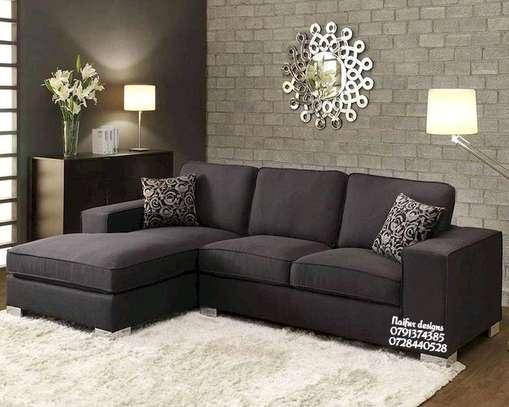 Five seater L shaped sofas/modern livingroom sofas designs image 1