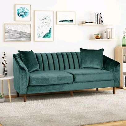 Green tufted sofas/three seater sofa/modern Customized sofas for sale in Nairobi Kenya image 1