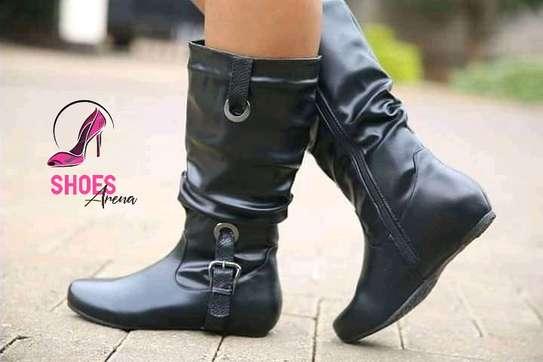 Rainy season leather boots image 2