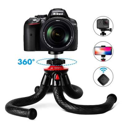 """Tripods for Phone, 12"""" Flexible Tripod with Bluetooth for iPhone Xs, Samsung, Waterproof Tripod for Time-Lapse Photography, 360 Degree Spherical Tripod for GoPro, Black"""