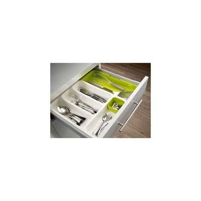 Cutlery Organizer Tray Expandable Drawer image 1