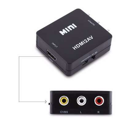BLACK HDMI To RCA Convertor