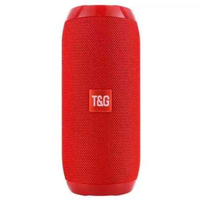 T&G Bluetooth Speakers TG507 Waterproof Portable Quality Sound With FM TF Card USB AUX Support - Red image 1