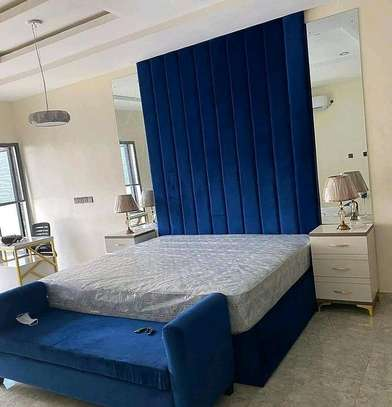 BLUE MODERN 6*6 BED FOR SALE IN NAIROBI image 1