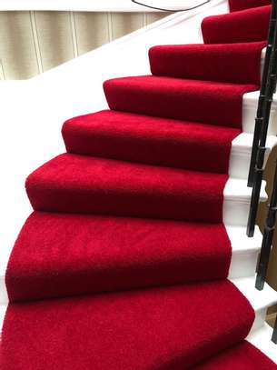 Machine made high quality red carpets image 3