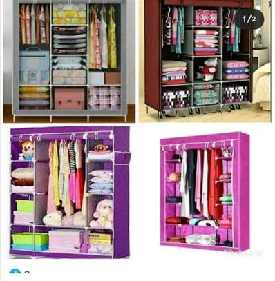 Wardrobe organizer 3 column portable image 1