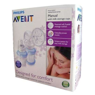Philips AVENT Manual Breast Pump+ FREE reusable cups image 3