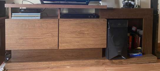 Brown TV stand image 1