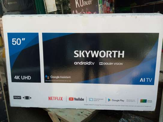 "Skyworth 50UB7500 50"" 4K ULTRA HD ANDROID TV, NETFLIX, YOUTUBE in"