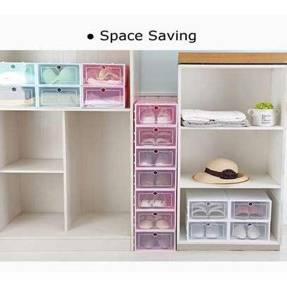 Shoes Storage Boxes Shelf Home Organizer - 5 Boxes image 1