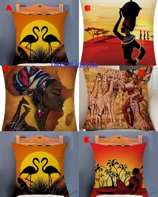 DECOR AFRICAN PRINT PILLOW CASES image 1