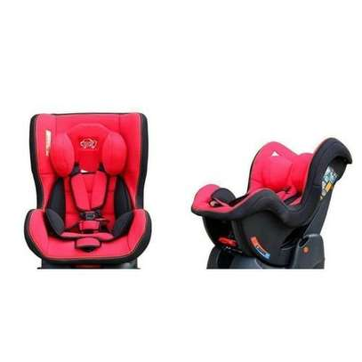 Reclining Baby Car Seat - red, black(0-5yrs) + a baby neck support pillow image 2