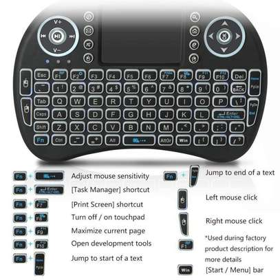 Backlit Mini Wireless Keyboard With Touchpad and Multimedia Keys for Android TV Box image 2