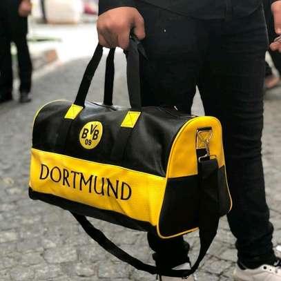 Black and yellow Dortmund designer duffle bags image 1