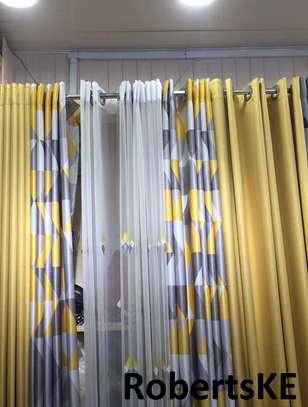 double sided goldish curtain image 1