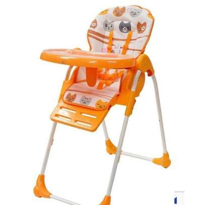 Feeding Chair/Adjustable high chair/ portable kids high chair- Orange image 1