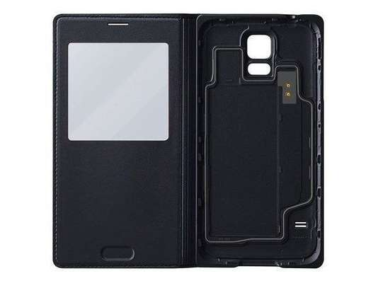 Smart S View Flip PU Leather Wallet cover case for Samsung Galaxy S5 w IC Chip image 4