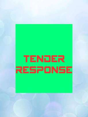 TENDER RESPONSE AND DOCUMENTATION image 1
