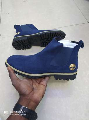 Timberland Mens Suede Leather  Boots -Blue