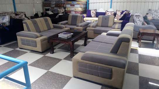 Ready made suede 7 seater sofas image 3