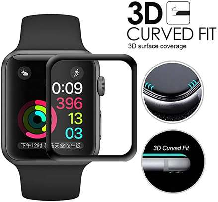 3D Curved Edge Tempered Glass Protective Film For Apple Watch 40,42,44 image 1