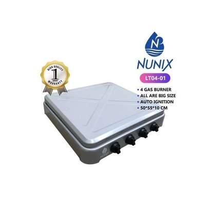 Nunix 4 Gas Burner Table Top Cooker Silver image 3