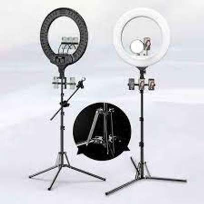 21 Inch Digital Selfie Ring Light with Tripod | Beauty Ringlight & Cell Phone Holder for All Smartphone | Tripod for Photography & Live Stream/Makeup/YouTube Video (21 Inch) image 1