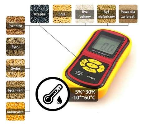 LCD Display Digital Grain Moisture Meter Humidity Wheat Corn Rice Bean Tester image 4