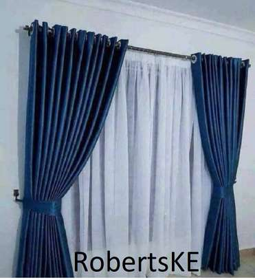 polycotton dark blue  curtain image 1