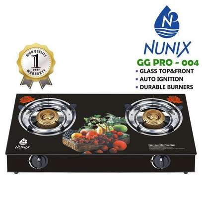 Nunix Tampered Glass Table Top Double Burner Gas Stove / Cooker image 2