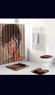 Bathroom Curtain and 2 Mats Set - Curtain - 6x6ft image 5