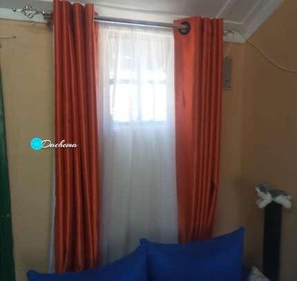 orange customized  curtains image 1