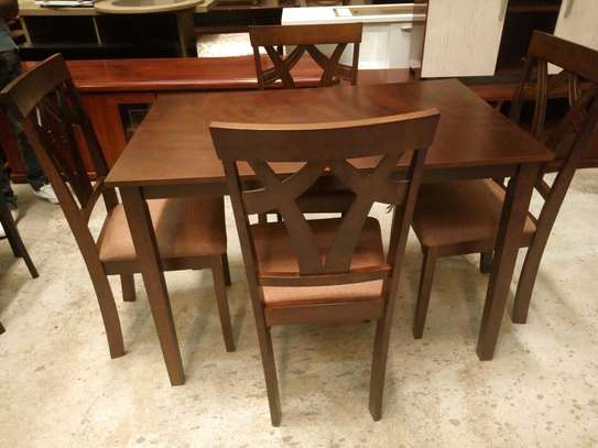 4seater wooden dining table image 1
