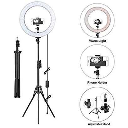 26cm/10 Inch LED Ring Light with Light Stand Universal Phone Holder Kit image 1