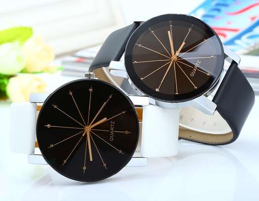 Quartz Best Couple Watches Office Dial Leather Watch