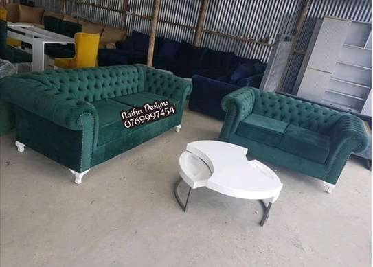 4 SEATER CHESTERFIELD SOFA FOR SALE IN NAIROBI /GREEN SOFA image 1