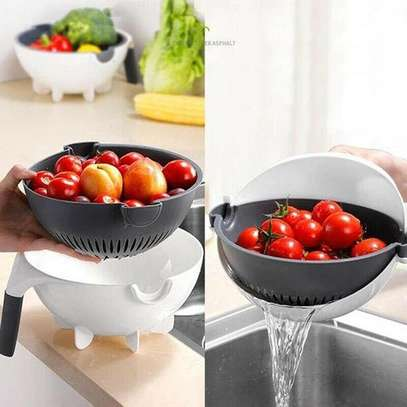 Smart Multifunctional Drainer And Grater,comes with several Exchanging Blades image 1