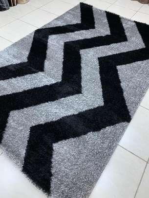 Soft Turkish carpet grey black image 1