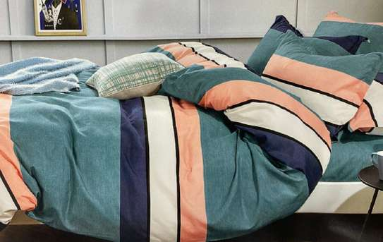 duvets 6 by 6 striped orange image 1