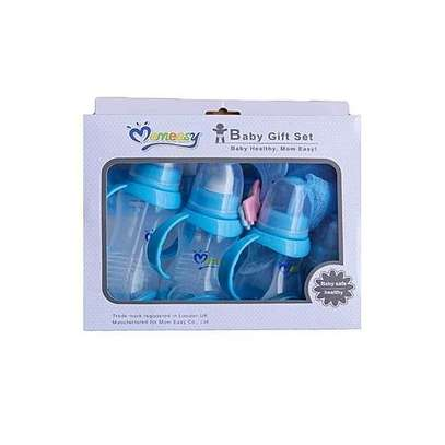 Mom Easy Baby Gift Set - Feeding Bottles with a Pacifier - Blue image 1