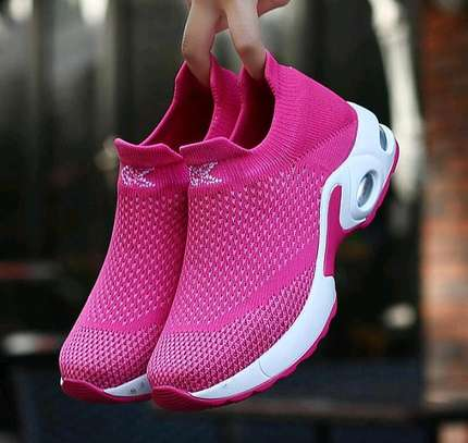 Women casual running breathable mess hallow plattform sneakers image 1