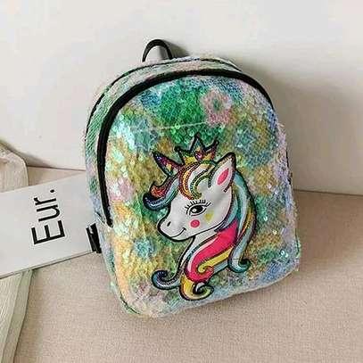Green Rainbow Unicorn Backpack image 1