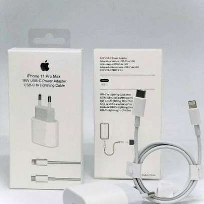 Original 18W Apple iPhone 11/11 Pro/11 Pro Max USB-C Power Adapter Type-C to Lightning Fast Charger for iPhone image 1